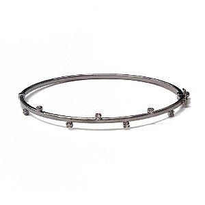 Bracelete Nevada Ródio Negro
