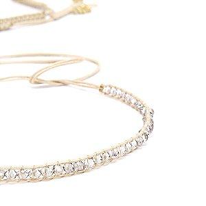 Colar Cachecol Bali Diamond Dourado