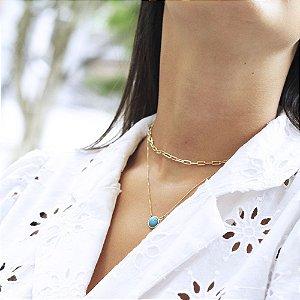 Look de Colares Kim Summer Dourado
