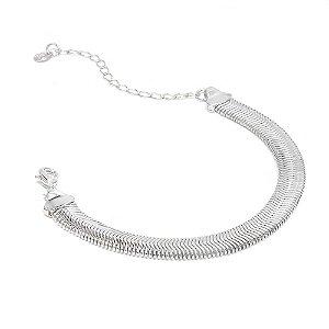 Pulseira Snake Ródio Branco