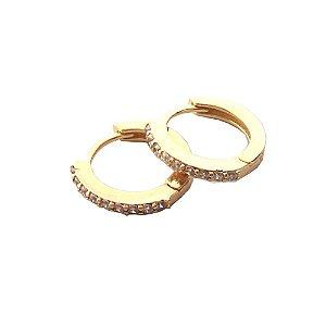 Brinco Argola Circle M Dourado