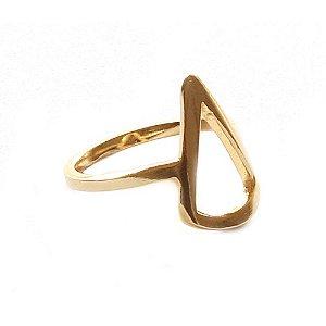 Anel Basic Triângulo Dourado