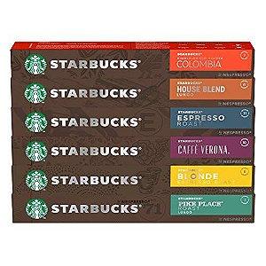 60 Cápsulas Starbucks Nespresso - Degustação Café - Cápsula Alumínio