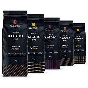 Café Em Pó Baggio - 5 Pacotes - 1.250g - Café Gourmet Arábica Moído