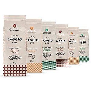 Café Em Pó Baggio, 6 Pacotes, 1.500g, Chocolate Trufado, Menta e Caramelo, Café Moído Aromatizado