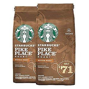 Café Em Pó Starbucks Pike Place - 2 Pacotes - 500g - 100% Arábica