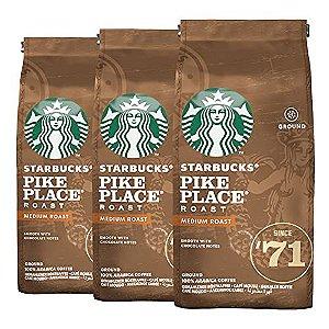 Café Em Pó Starbucks Pike Place - 3 Pacotes - 750g - 100% Arábica