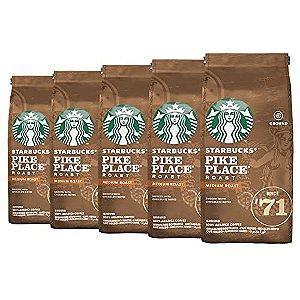 Café Em Pó Starbucks Pike Place - 5 Pacotes - 1.250g - 100% Arábica