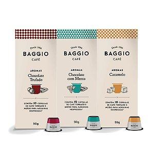 Kit Capsulas Baggio Nespresso 03 Caixas Caramelo , Menta ,Trufado