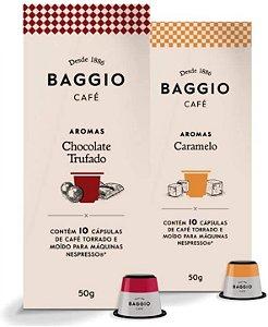 20 Cápsulas Para Nespresso – Café Baggio – Chocolate Trufado e Caramelo