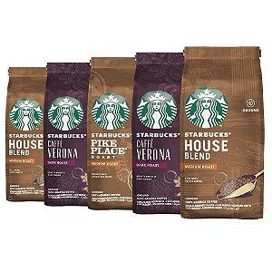 Café Em Pó Starbucks, 100% Arábica, 5 Pacotes, 1.250G