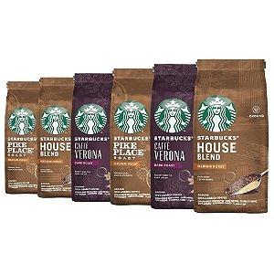 Café Em Pó Starbucks, 100% Arábica, 6 Pacotes, 1.500G