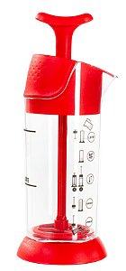 Cremeira Espumador Aeroccino Pressca - Vermelha