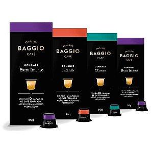 Café Baggio Gourmet Para Nespresso, 4 Caixas, 40 Cápsulas