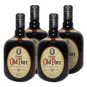 COMBO WHISKY OLD PARR 12 ANOS  1 L - 4 UNIDADES