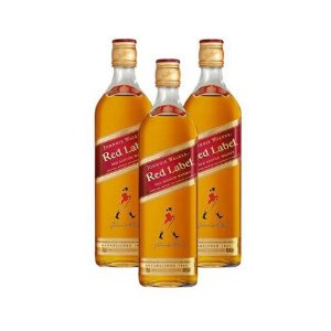 COMBO WHISKY JHONNIE WALKER RED LABEL 1 L - 3 UNIDADES