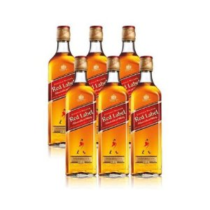 COMBO WHISKY JHONNIE WALKER RED LABEL 1 L - 6 UNIDADES