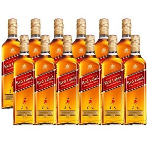 COMBO WHISKY JHONNIE WALKER RED LABEL 1 L - 12 UNIDADES