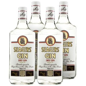 COMBO GIN SEAGERS LONDON DRY 980 ML - 4 UNIDADES