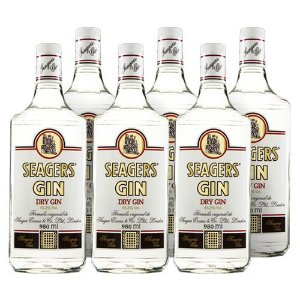COMBO GIN SEAGERS LONDON DRY 980 ML - 6 UNIDADES
