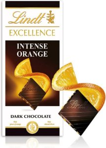Chocolate Suíço Lind Excellence Intense Orange (Dark) - 100 gr