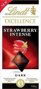 Chocolate Alemão Lind Excellence Strawberry Intense (Dark) - 100 gr