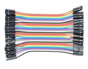Jumper fêmea fêmea 10 cm, 40 fios, multi cores.