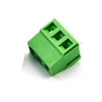 Borne 3 terminais verde - espaçamento de 3,5 mm