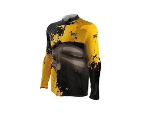 Camiseta Camisa Pesca Proteção Uv50 Mar Negro - Tamba G