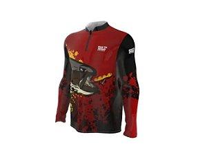 Camiseta Camisa Pesca Proteção Uv50 Mar Negro - Traírão M