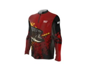 Camiseta Camisa Pesca Proteção Uv50 Mar Negro - Traírão G