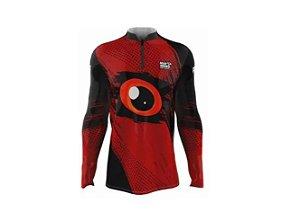 Camiseta Camisa Pesca Proteção Uv50 Mar Negro - Olhos P