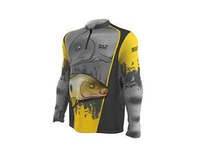 Camiseta Camisa Pesca Proteção Uv50 Mar Negro - Piapara M