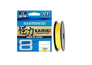 LINHA MULTIFILAMENTO SHIMANO KAIRIKI 8 PE 15LB 0,160MM X 150M AMARELO