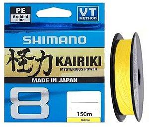 LINHA MULTIFILAMENTO SHIMANO KAIRIKI 8 PE 6LB X 150M AMARELO
