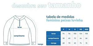 CAMISETA DE PESCA MAR NEGRO FEMININO TAMBAQUI G