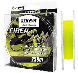 LINHA MONOFILAMENTO CROWN FIBER SOFT YELLOW 0,26MM 250 MTS