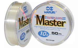 LINHA FLUORCARBONO MARURI MASTER 50M 18 0,73MM 32Kg