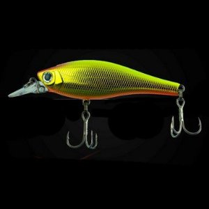 ISCA ARTIFICIAL SUMAX VISION SHAD METALLIC HG,CROWN GOLD PEC SVS-75-056