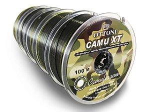 5  CARRETEIS LINHA MONO CAMU XT 0,35MM 100M