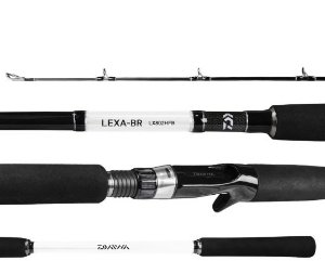 VARA 2 PARTES CARRETILHA DAIWA LEXA LX802HFB-BR 2,44M 20-50LBS