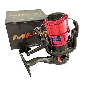 Molinete Albatroz MP 40 3 Rolamentos Vermelho Com Linha