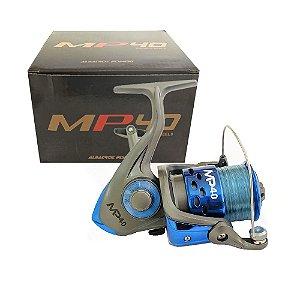 Molinete Albatroz MP 40 3 Rolamentos Azul Com Linha