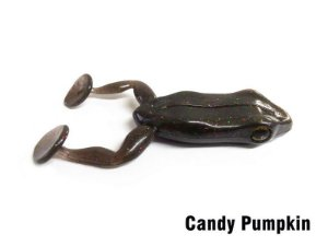 ISCA ARTIFICIAL SOFT MONSTER 3X PADDLE FROG CANDY PUMPKIN 2UN
