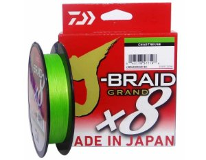 LINHA MULTIFILAMENTO DAIWA J-BRAID 8X 135M 30LBS 0,28MM DARK GREEN