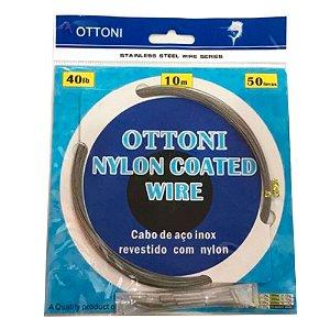 CABO DE AÇO OTTONI NYLON COATED WIRE 10 METROS 80LBS