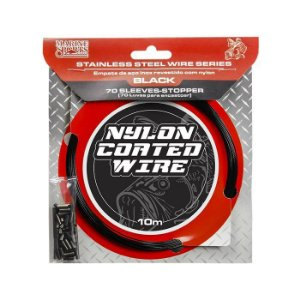 CABO DE AÇO MARINE SPORTS NYLON COATED WIRE 10 METROS 20 LBS - BLACK