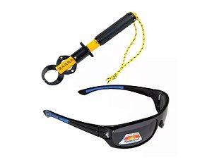 Óculos Maruri Polarizado Dz1813 + Alicate Pega Peixe Garra