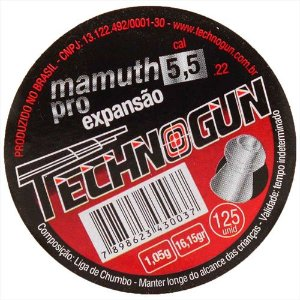 CHUMBINHO TECHNOGUN MAMUTH PRO 4,5 C/250 PCS