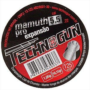 CHUMBINHO TECHNOGUN MAMUTH PRO 5,5 C/125 PCS
